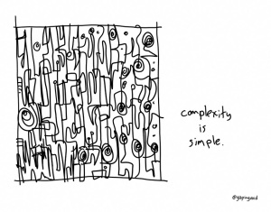 Complexity is Simple (c) Hugh Macleod 2014