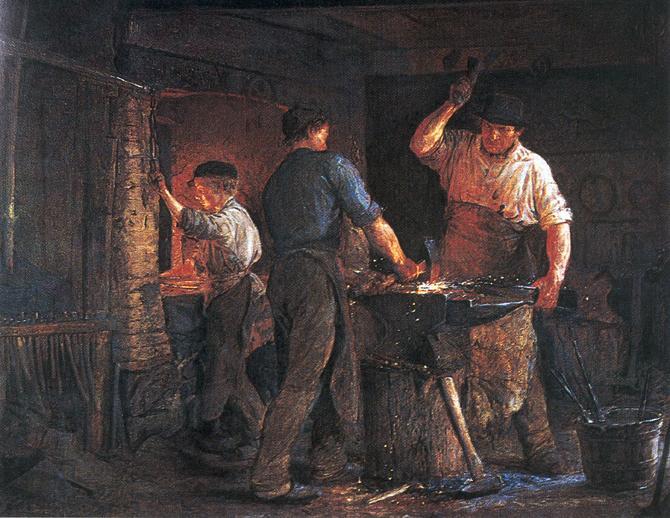 Smedje i Hornbæk, 1875