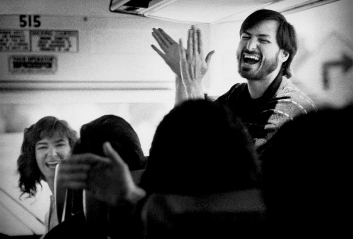 Steve Jobs Enjoying a Joke