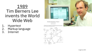 Tim Berners Lee and the World Wide Web